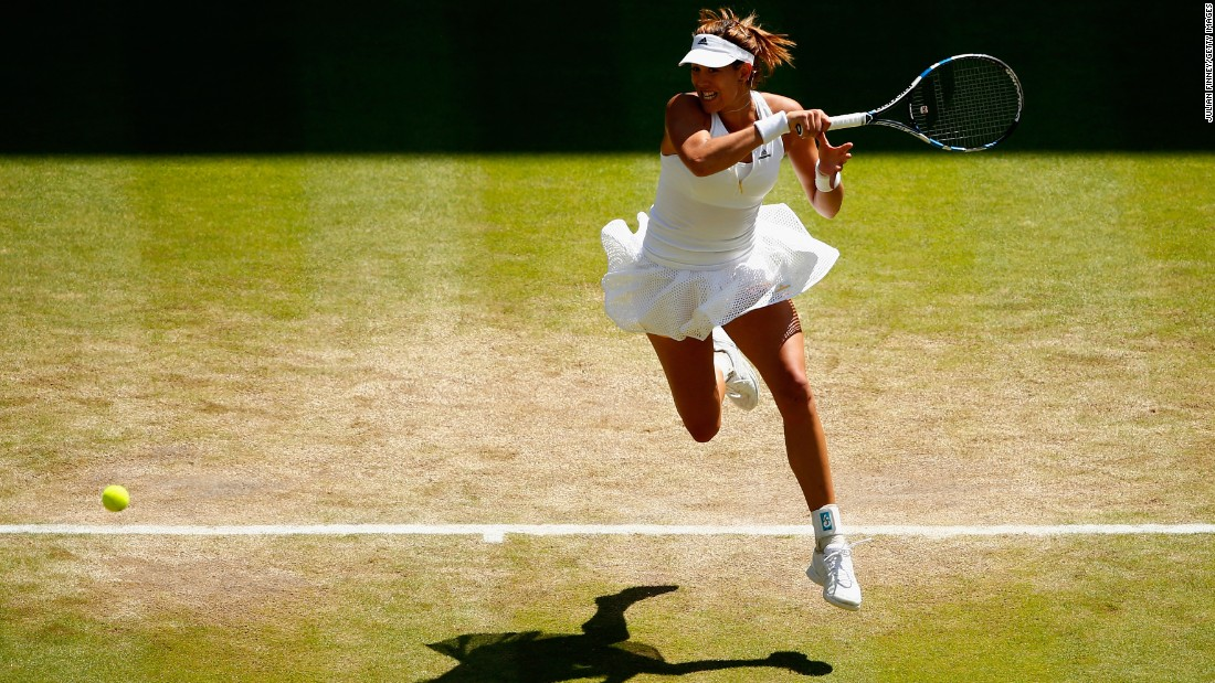 Standing in her way will be first-time grand slam finalist Garbine Muguruza of Spain. The 21-year-old beat 2012 finalist Agnieszka Radwanska 6-2 3-6 6-3.
