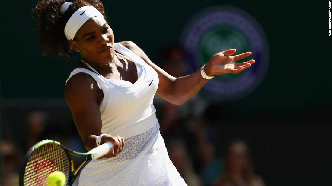 Can anyone stop Serena Williams at Wimbledon? Maria Sharapova tried but was again unsuccessful.