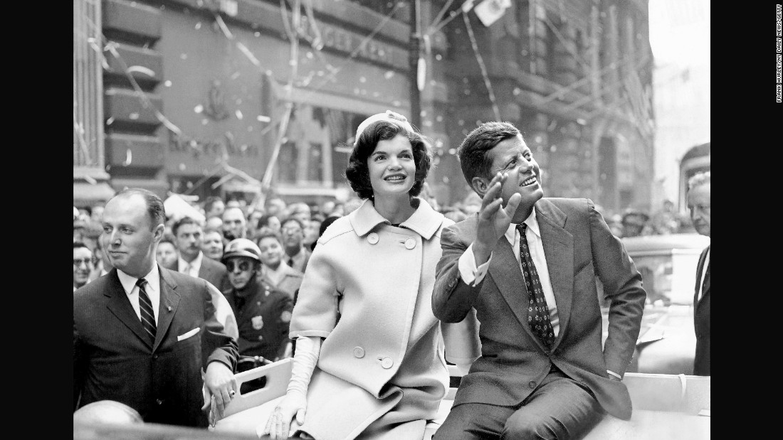 Then the Democratic presidential nominee, Sen. John F. Kennedy and his wife, Jacqueline were celebrated in October, 1960. The following month, he would go on to win the presidential election.