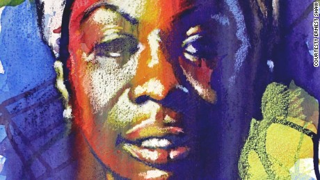 Baltimore artist Ernest Shaw has painted Nina Simone numerous times.