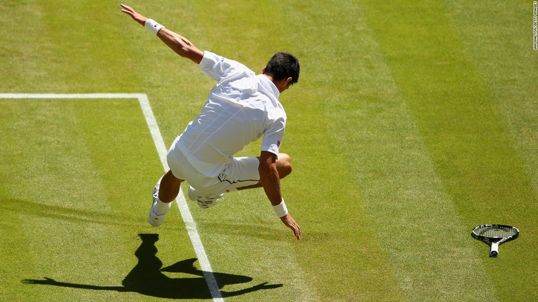 Djokovic did have a few tricky moments before he triumphed 7-6 (7-2) 6-4 6-4.