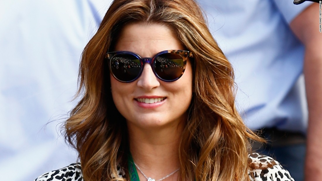 Federer's wife Mirka was also in attendance -- she will be cheering her husband as he seeks a record eighth Wimbledon men's title on Sunday.