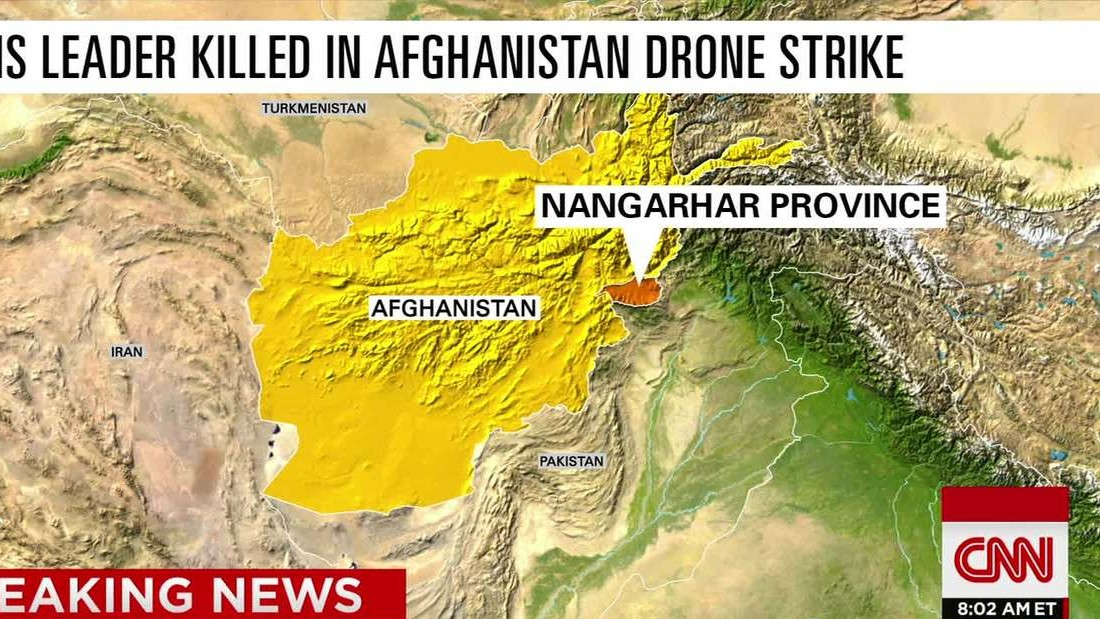 Afghan agency: ISIS leader killed in drone strike