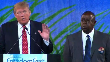 Donald Trump and Jamiel Shaw Sr.