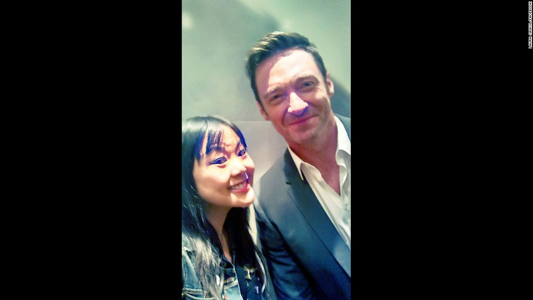 "Laura Sirikul happened to catch Wolverine himself, Hugh Jackman in the elevator on the way to his first panel Saturday morning for the upcoming movie ""Pan."""