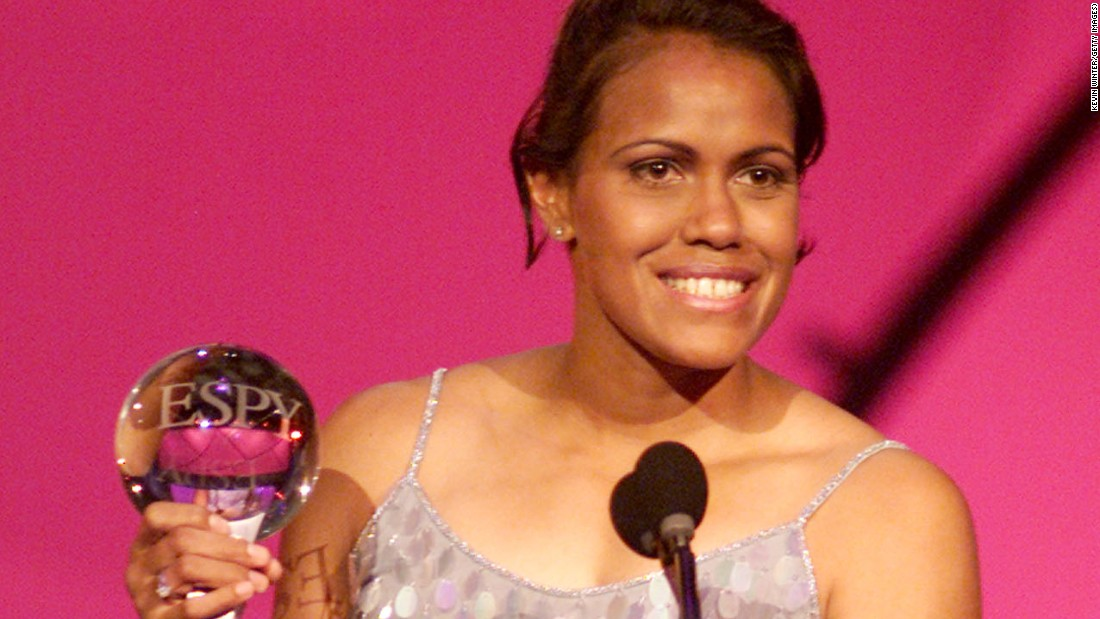 "Australian track star <strong>Cathy Freeman </strong>received the award in 2001. ""Choosing her was not merely a salute to an elite athlete, but to an entire people,""<a href=""https://espn.go.com/espy2001/s/0206ashewinner.html"" target=""_blank""> ESPN said in a news release</a>. Freeman represented ""the oppressed Aboriginal people,"" ESPN said, and used the ""worldwide sate go raise awareness of her people's plight."" Freeman has continued her humanitarian work with the founding of the <a href=""http://www.cathyfreemanfoundation.org.au/about-us/who-we-are"" target=""_blank"">Cathy Freeman Foundation</a> in 2007, which is based on the principle that ""all children deserve the opportunity to learn."""