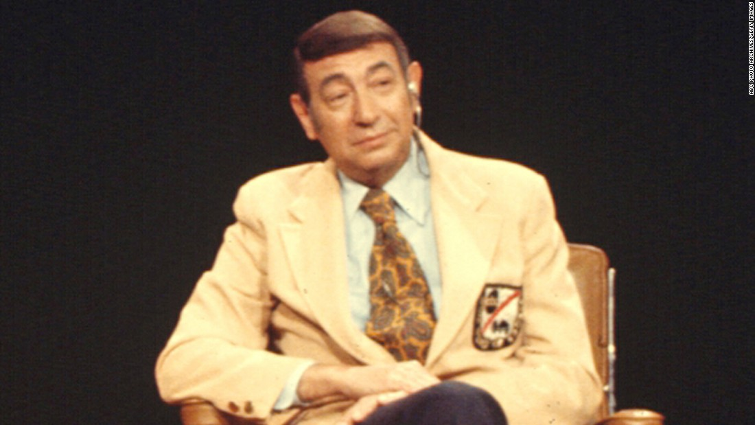 <strong>Howard Cosell,</strong> a sports journalist, received the 1995 award for speaking on behalf of those who couldn't speak for themselves. Cosell was also inducted into the American Sportscasters Association Hall of Fame in 1993.