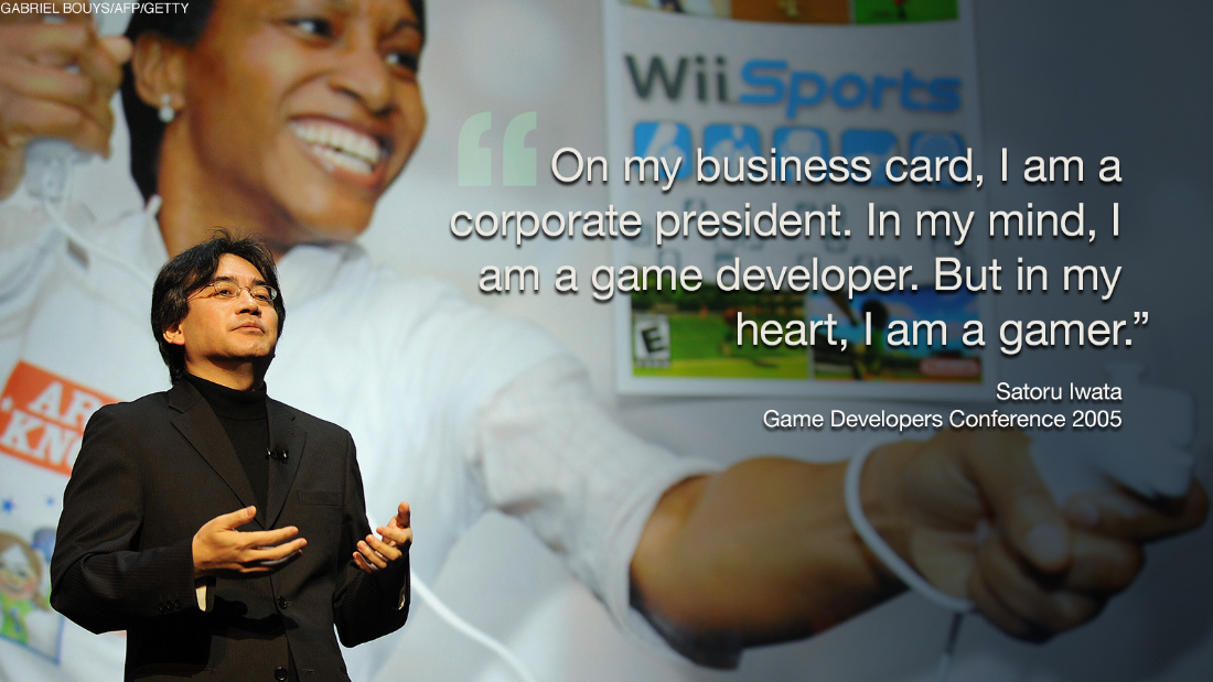 "Iwata wasn't just your regular, buttoned-up corporate executive. Since 2011, the president had connected with fans through ""Nintendo Direct,"" which were regular online press conferences he hosted to get the word out about the latest games."