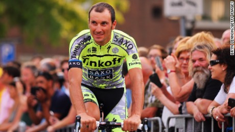 Ivan Basso rides for the Tinkoff-Saxo and is a two-time winner of the Giro d'Italia.