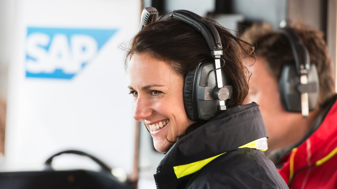 The London-based adventurer is best known for her TV work commentating on the Extreme Sailing Series and the America's Cup.