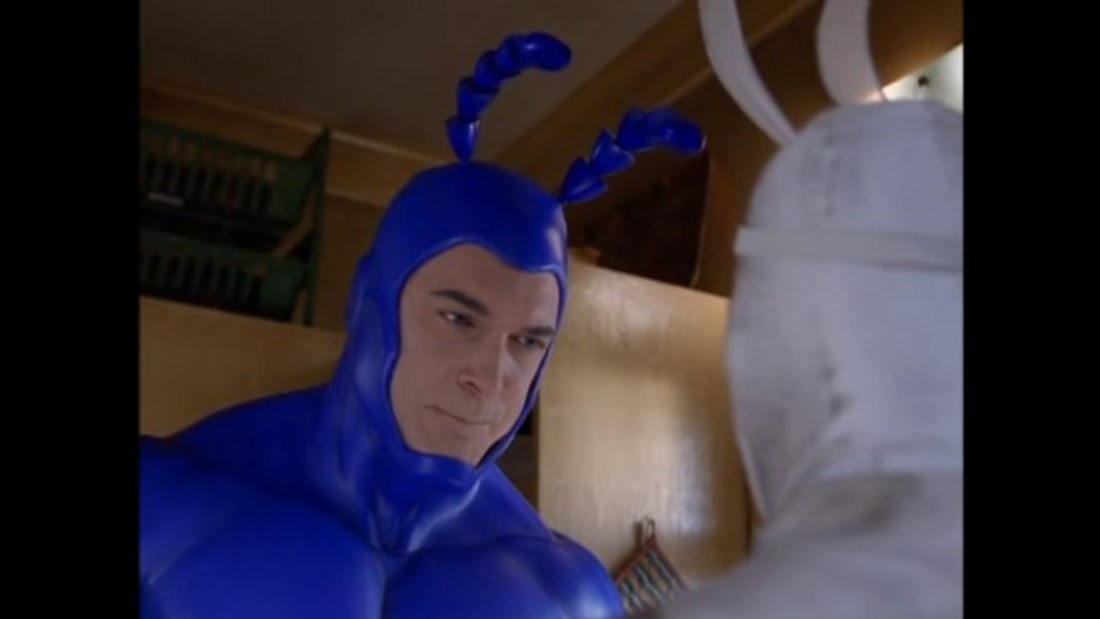 """Spoon!"" was the battle cry of the Tick, the ever-optimistic satirical comic book hero. He was ready to fight evil no matter how much damage he caused or how long the odds against him. Patrick Warburton played the Tick in the short-lived live action series, which was preceded by a popular Saturday morning cartoon."