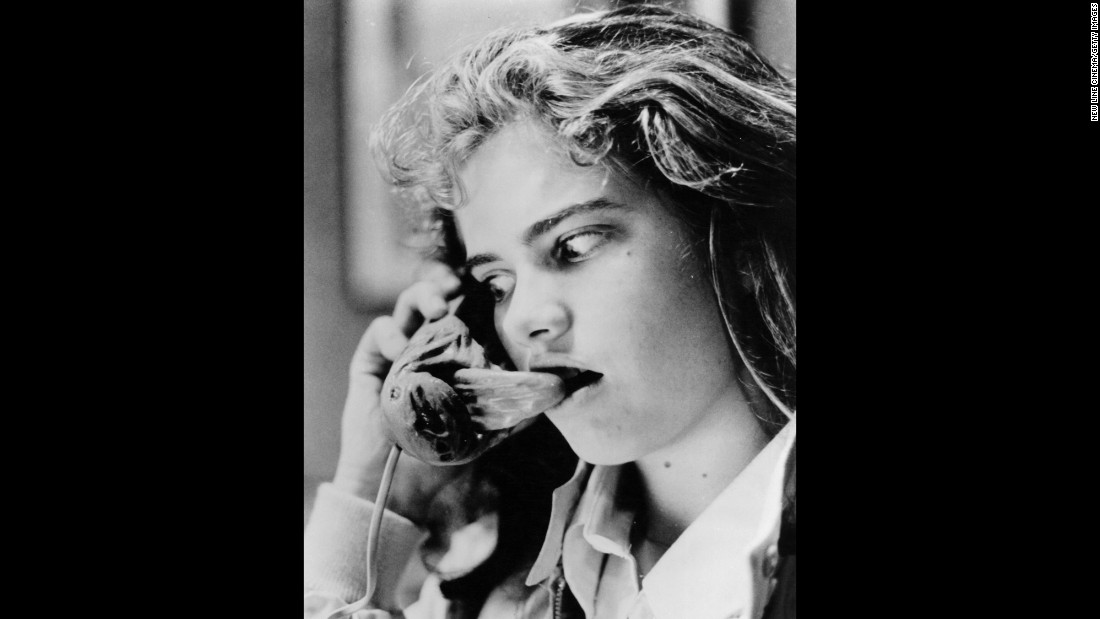 "Scream queen Heather Langenkamp is hearing a voice of terror in  ""<a href=""https://www.youtube.com/watch?v=YT1bU5SpwF4"" target=""_blank"">A Nightmare On Elm Street</a>"" in 1984."