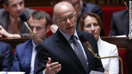 French Interior Minister Bernard Cazeneuve said one of the suspects is a former French navy sailor.