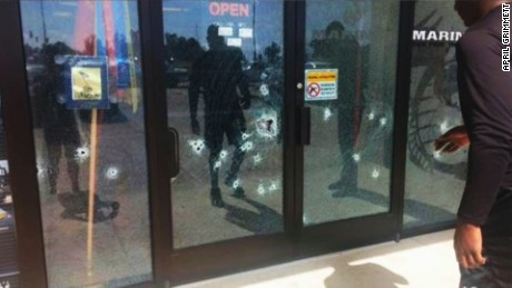 bullet holes photo Chattanooga shooting lv _00000000