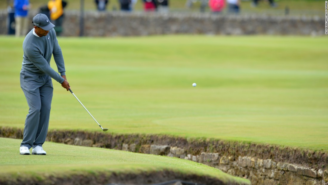 The 39-year-old bogeyed the first two holes at the prestigious Scottish links course, where he has won two of his three Open titles.