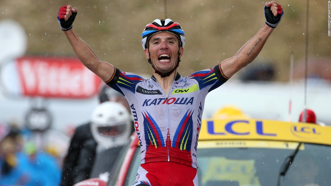 Meanwhile, Spanish rider Joaquim Rodriguez Oliver won his second leg of the 2015 Tour for Team Katusha in Thursday's stage 12 -- a rain-hit 195 km trek between Lannemezan and Plateau de Beille.