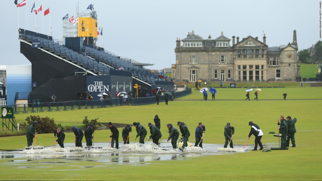 An army of green staff got to work clearing the water as soon as the heavy rain relented.