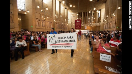 Hundreds of Immigrants gathered at the Cathedral of Our Lady of the Angels to participate in the annual Mass in Recognition of All Immigrants.