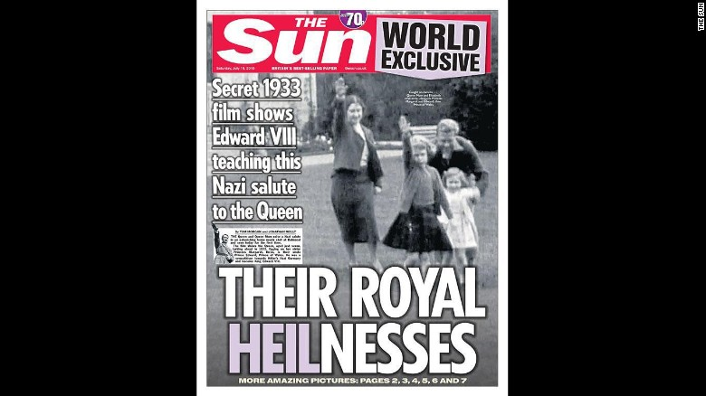 Images show Queen as child giving Nazi salute