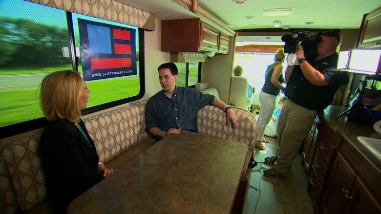 Exclusive inside Gov. Scott Walker's winnebago