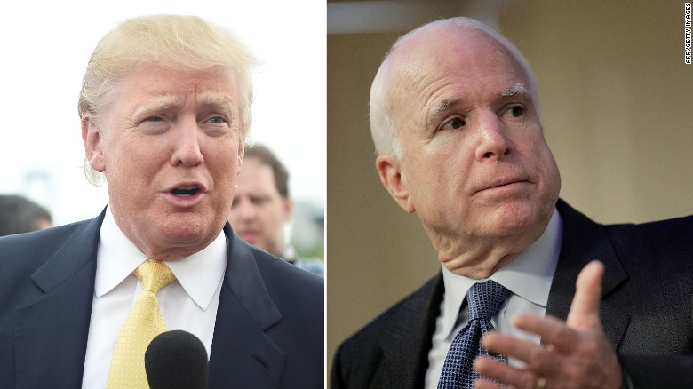 Trump insults McCain, draws scrutiny