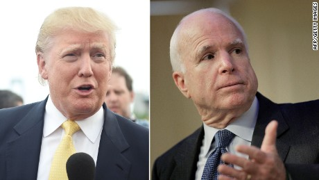 Donald Trump won't apologize to John McCain