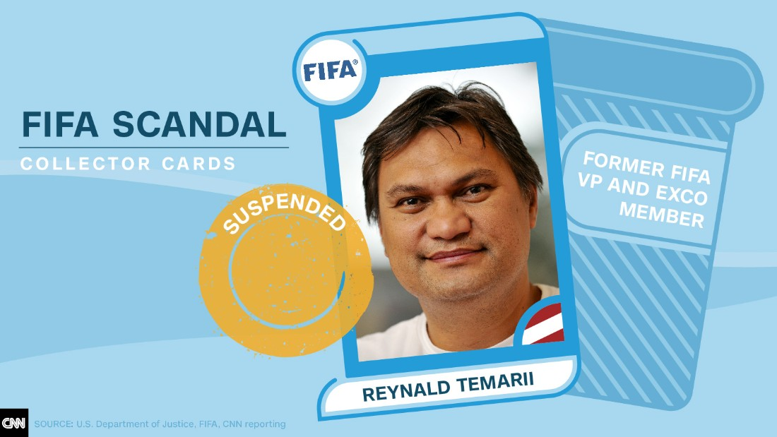 FIFA scandal collector cards Reynald Temarii