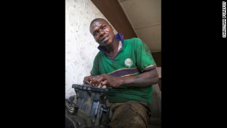 Obinna says business is so bad, it is difficult for him to provide food for his family.