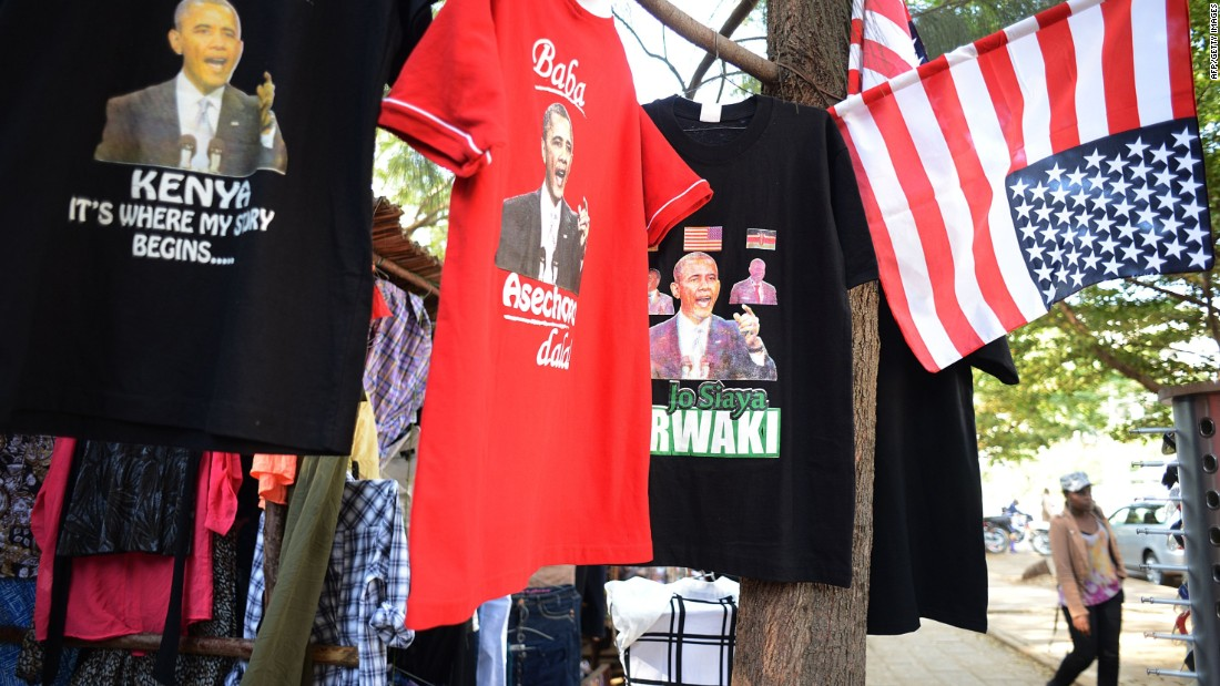 Even though Obama isn't scheduled to visit Kogelo, street merchants are already offering all kinds of Barack-themed merchandise.