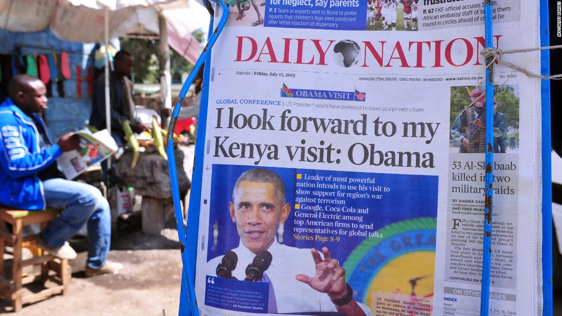 Obama's visit to his father's homeland will be his fourth to Africa -- but his first to Kenya since he took office.