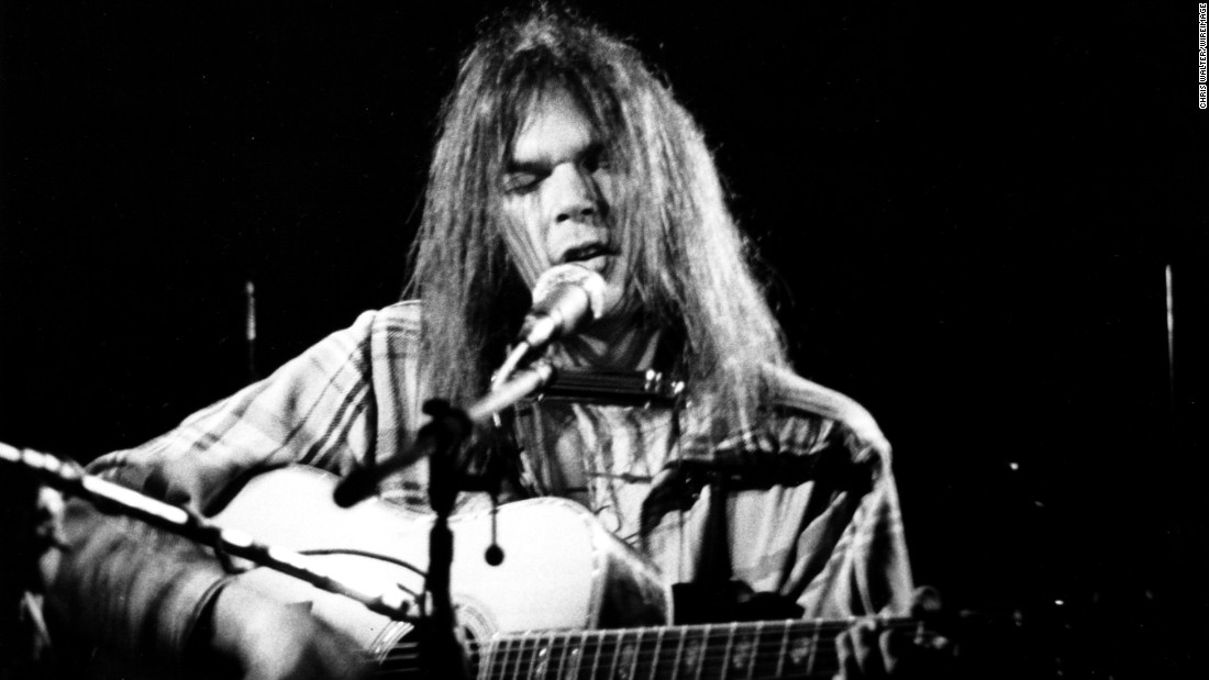"Young's solo career in the '70s presented a successful mix of acoustic and electric folk rock. His signature voice and personal lyrics give emotional weight to songs, like the existential anxiety in ""Old Man"" and the aimless longing in ""Heart of Gold."""