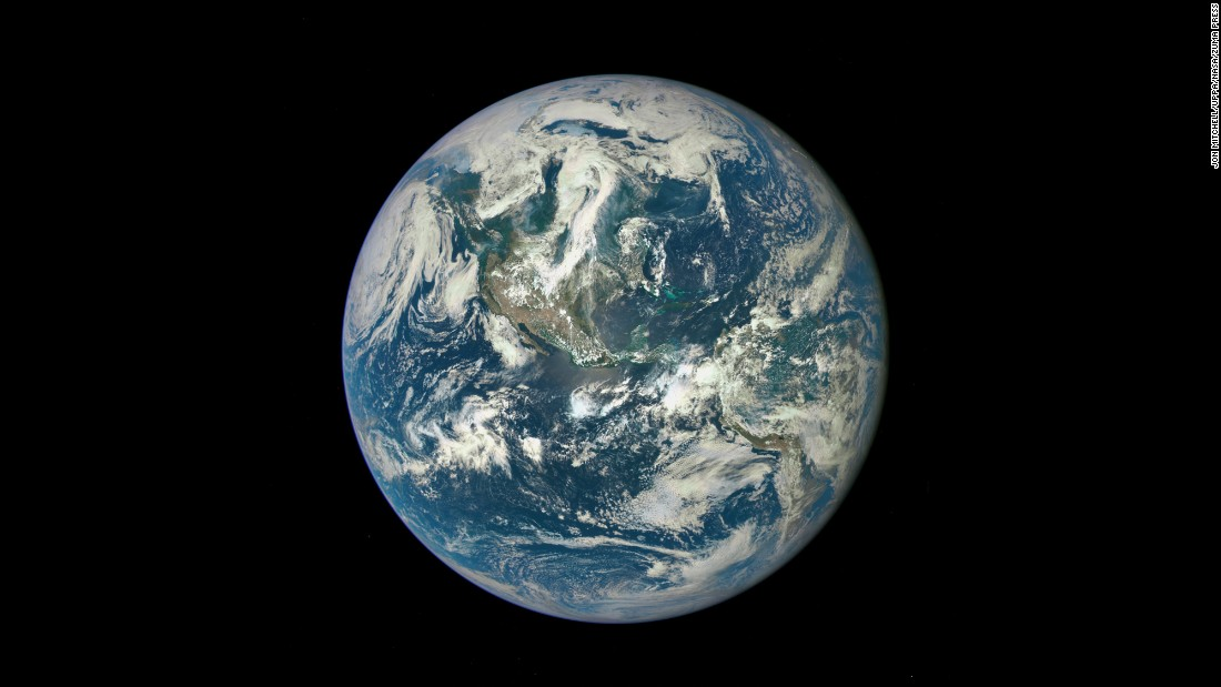 "This image of Earth was taken by NASA's Deep Space Climate Observatory satellite on July 6, 2015. The satellite was 1 million miles from Earth at the time of the photo. NASA says it's the first time an image of the full, sunlit side of Earth has been captured since Apollo 17's iconic <a href=""http://earthobservatory.nasa.gov/Features/BlueMarble/"" target=""_blank"">""Blue Marble"" photo</a> in 1972. <a href=""http://www.cnn.com/2015/07/22/world/gallery/earth-photos/index.html"" target=""_blank"">See more photos of the Earth from afar</a>"