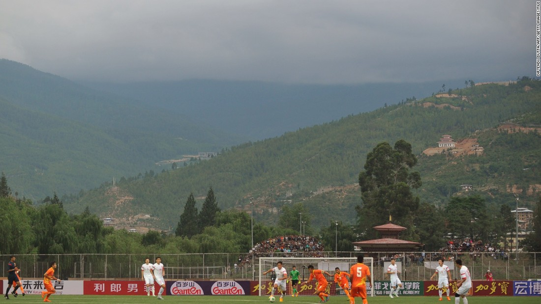 Qualifying games for the 2018 World Cup started ahead of the preliminary draw in confederations such as CONCACAF and Asia, with Bhutan pictured here in action against China.