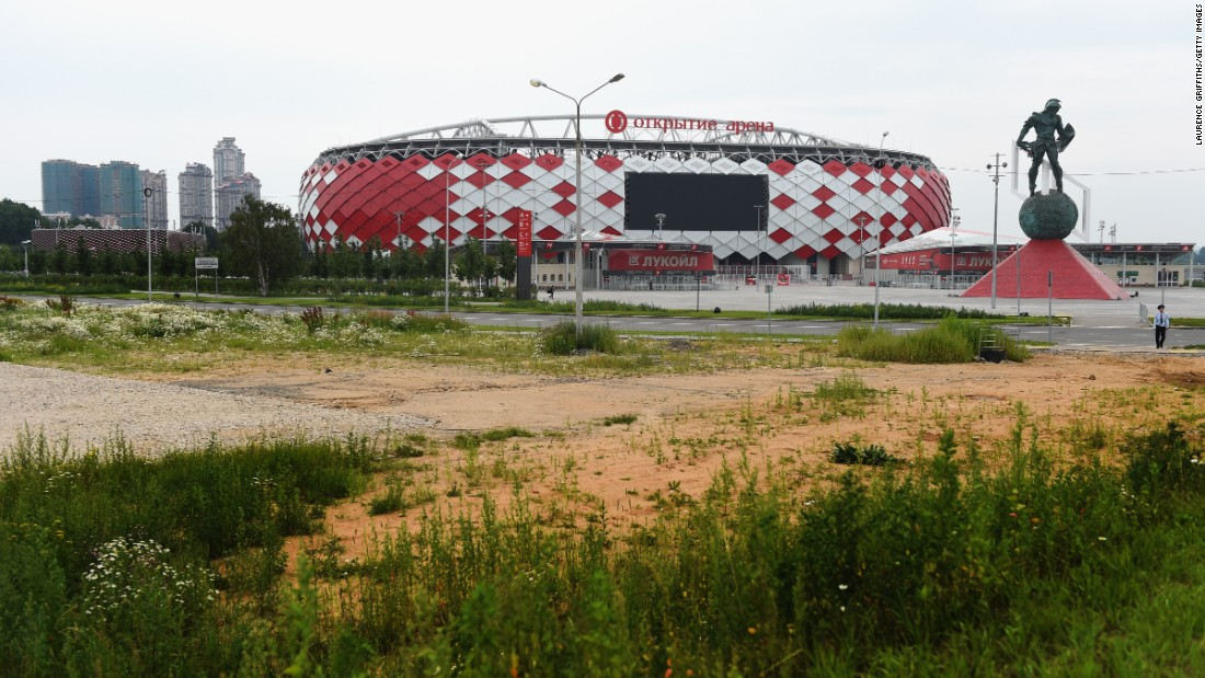 The Otkrytie Arena is Spartak Moscow's recently opened new home.
