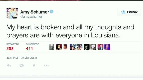 Amy Schumer reacts to movie theater shooting