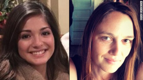 Mayci Breaux, left, and Jillian Johnson victims of the Lafayette shootings.