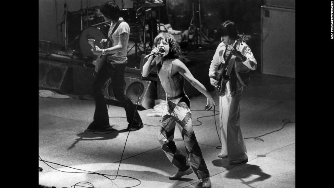 "One of the biggest bands of the '60s, the Rolling Stones continued their success in the new decade, beginning with their ""Sticky Fingers"" album in 1971 and followed by their critically acclaimed ""Exile on Main St."" in 1972. The band recorded Exile's songs while hiding out in a villa in southern France to avoid financial trouble. The album is considered by many to be the Stones' greatest."