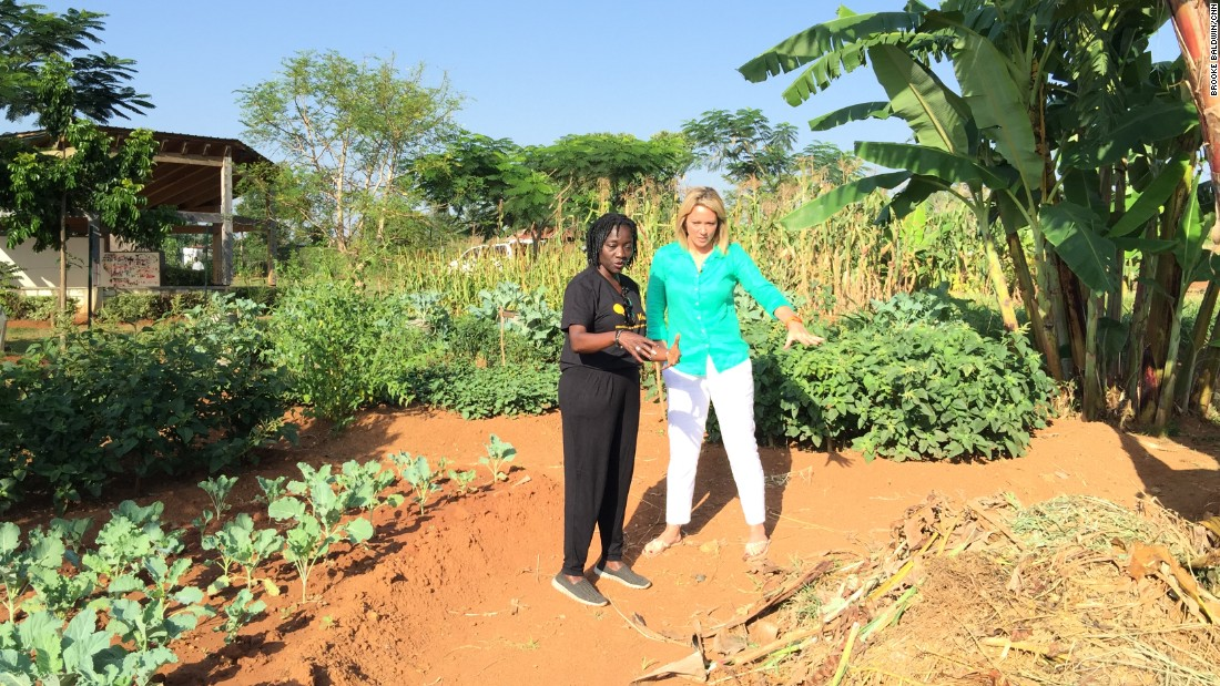 "Part of Sauti Kuu's mission is to serve as an example to community for how to grow and provide food for themselves. Auma Obama shows Brooke Baldwin the gardens, saying ""It's so easy to do this -- and it's so normal -- it doesn't make sense that people are going hungry when they have land."""