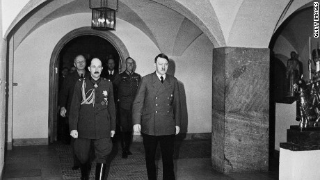 King Boris of Bulgaria pictured with Adolf Hitler in 1943.