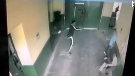 Brazen prison escape caught on camera