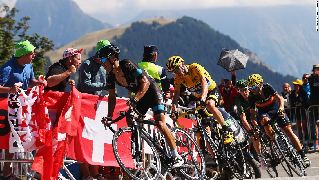 Froome and his teammates stuck close together on the crucial 20th stage finish to Alpe d'Huez.