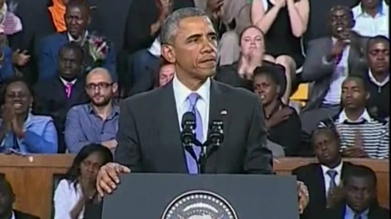 Obama delivers powerful speech to the people of Kenya