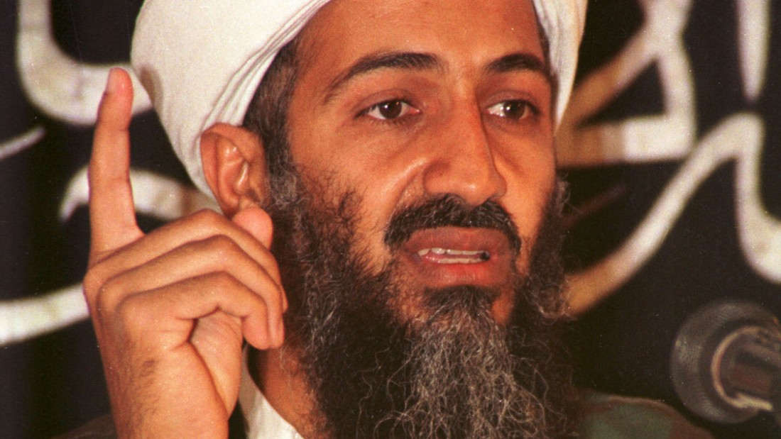 AFGHANISTAN - MAY 26, 1998: (FILE PHOTO)  Suspected terrorist leader Osama bin Laden addresses a news conference May 26, 1998 in Afghanistan. U.S. Secretary of State Colin Powell told the Senate Budget Committee February 11, 2003 that he had read a transcript from bin Laden or someone believed to be him, speaking about his partnership with Iraq from an Al Jazeera tape. The Arab satellite station aired a statement allegedly from Osama bin Laden.  (Photo by Getty Images)