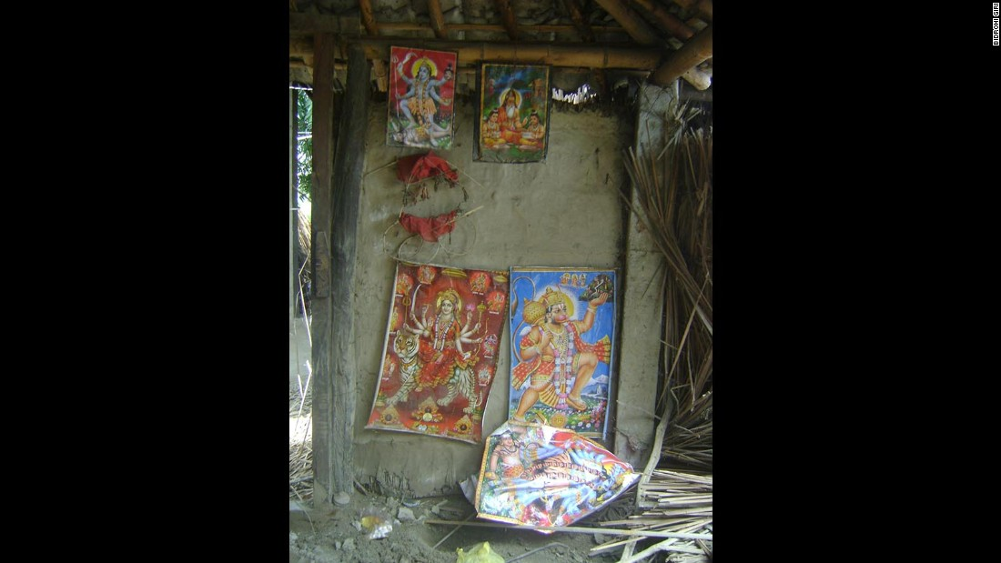 An image of the temple site where the religious ritual was allegedly performed. The boy's body was found in a field near the temple; his throat had been slit.