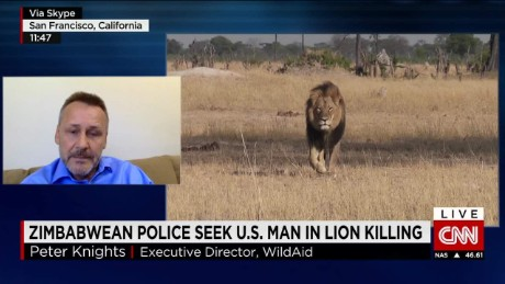 Zimbabwe police seek U.S. man in lion killing_00025005