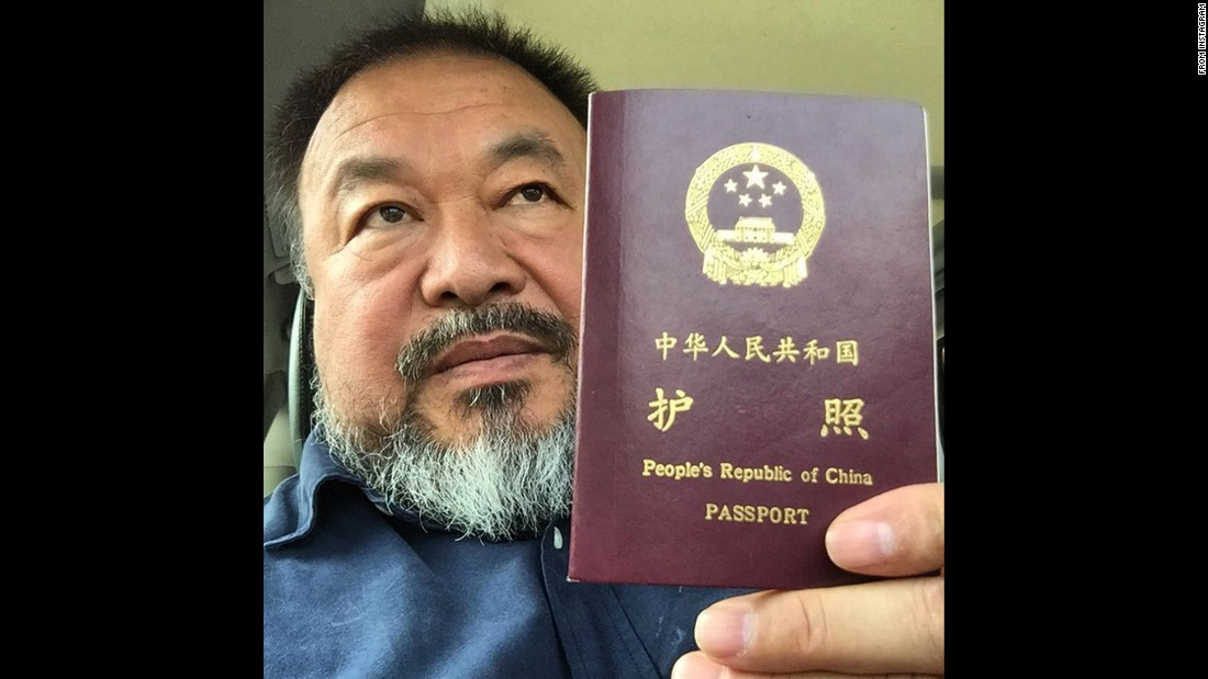"<a href=""https://instagram.com/p/5bdSb1qD6e/"" target=""_blank"">""Today, I got my passport,""</a> said Ai Weiwei, the Chinese artist and human-rights activist who had his travel rights revoked four years ago. <a href=""http://www.cnn.com/2015/07/22/arts/china-ai-weiwei-passport-returned/"" target=""_blank"">See the full story</a>"
