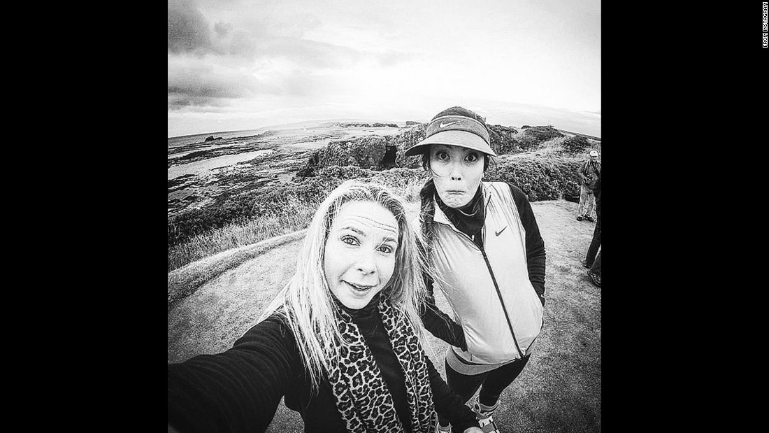 "Pro golfer Michelle Wie, right, takes a photo with manager Jamie Kuhn while in Scotland for the Women's British Open. ""Brrrrr,"" <a href=""https://instagram.com/p/5rx33kp-uu/"" target=""_blank"">Wie said on Instagram</a> on Tuesday, July 28."