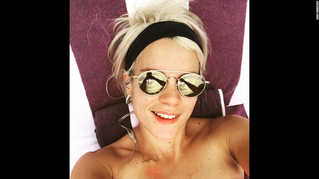 """Hello #ny,"" said singer Lily Allen in this selfie <a href=""https://instagram.com/p/5pDf21QMV2/"" target=""_blank"">she posted to Instagram</a> on Monday, July 27."