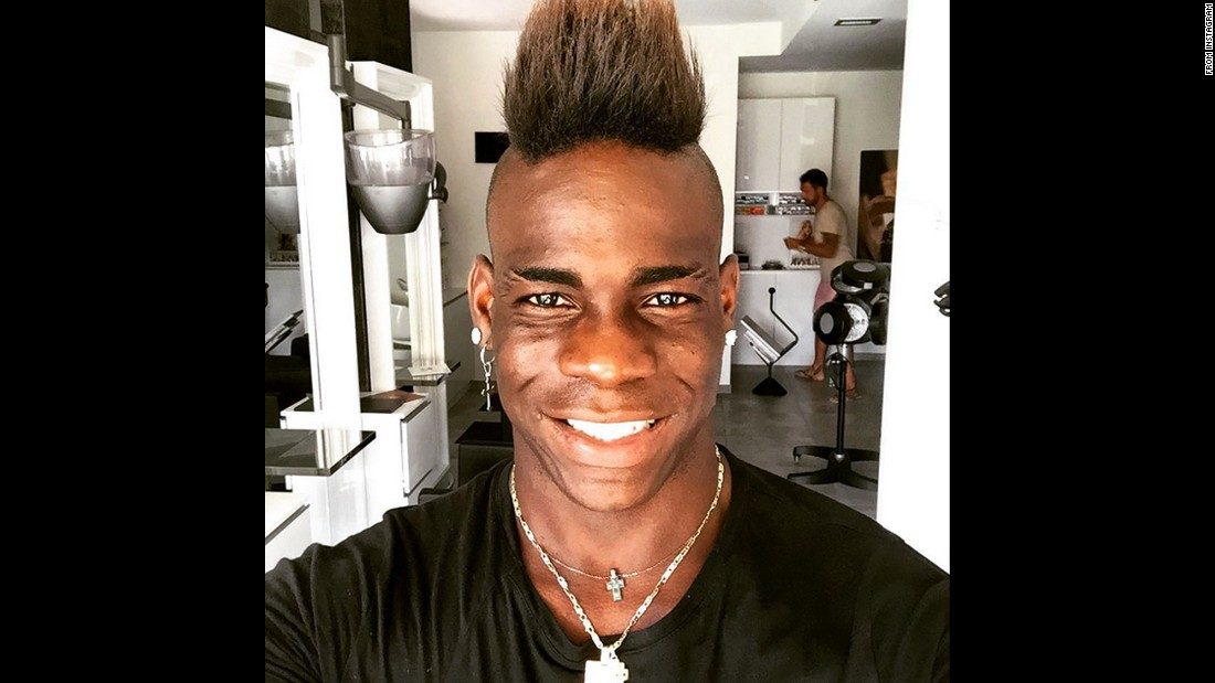 "Italian soccer star Mario Balotelli posted this selfie to his Instagram account on Tuesday, July 28. <a href=""https://instagram.com/p/5rbqEYLj0f/"" target=""_blank"">""Balotelli smiles!"" he wrote.</a>"