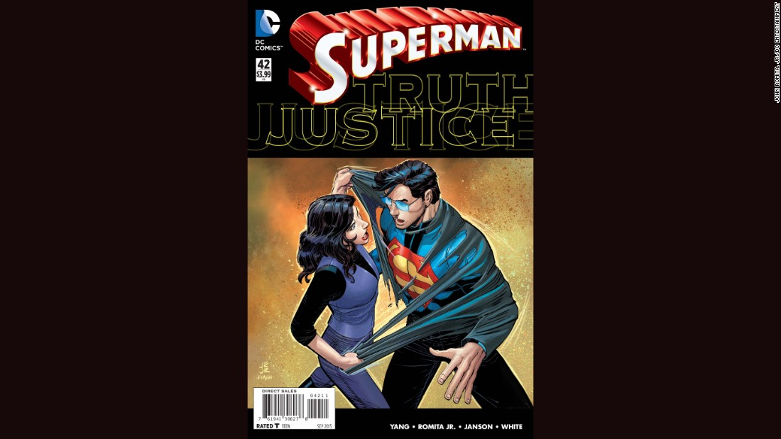 "Oh, no! Will Superman's secret be broadcast to the world? In the new ""Superman"" comic, out July 29, Lois Lane figures out who's behind Clark Kent's glasses. It's a curious turn for the legendary comic -- and it's not the only one that's risked fan complaints with a twist. Click through for others."